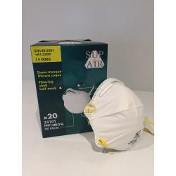 Demi-masque filtrant coque FFP1 par 20 ref 541010